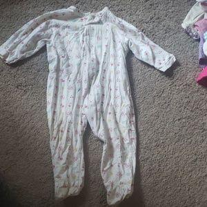 Infant girl footie onsie